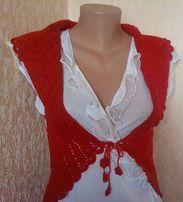Модний костюм: спідниця і жилетка в'язані