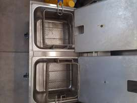 Double gas stave chip fryer..second hand .one owner