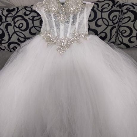 Шикарное свадебное платье! Хмельницкий - изображение 2
