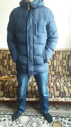 Теплый мужской зимний пуховик
