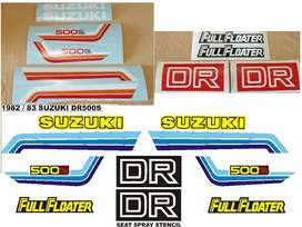 1982 Suzuki DR 500S decals stickers graphics kits