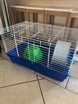 cage with house and wheel