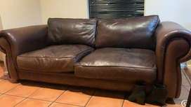 Spacious 2 Seater Genuine Leather Couch
