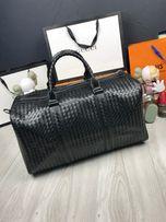 Кожаная дорожная сумка для багажа натуральная кожа Bottega Veneta c456