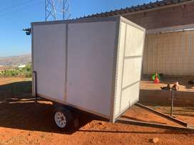 Incomplete mobile fridge. Needs cooling motor.