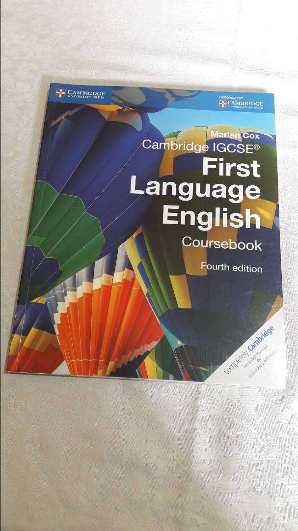 Cambridge IGCSE First Language English Course book by Marian Cox 0