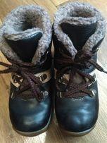 Кожаные зимние ботинки сапожки fess