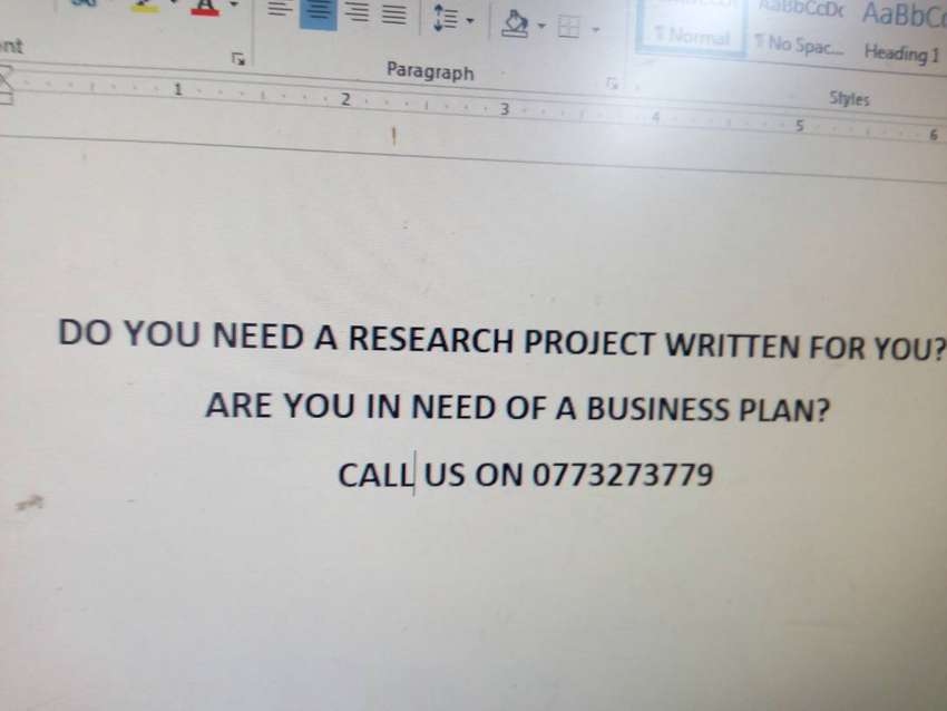 Research projects and business plans writing services. 0