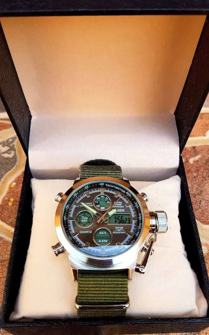 Ohsen Military watch with chronograph 0