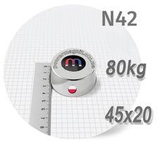 Неодимовый магнит [магниты] 45х20mm-ϟ80kgϟПОЛЬША ϟПОДБОР 100% ϟОБМЕНϟ