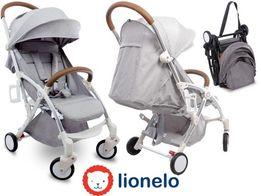 Wózek spacerowy Lionelo Julie jasnoszary moskitiera torba gumowe koła