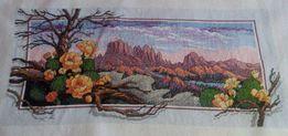 Вышивка крестом. Мулине. 06-06 Горы Перу. Работа без рамки.