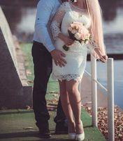Свадебное (вечернее) белое платье (возможен прокат)