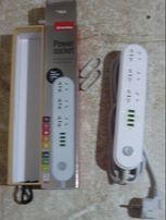 Продам Сетевой фильтр-удлинитель СolorWay 3 розетки/4 USB White
