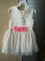 Wysyłka gratis!Złota sukienka z USA dziewczęca,wigilia,sylwester,r. 98