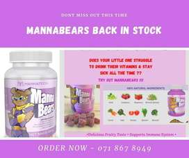 MANNABEARS BACK IN STOCK. Dont miss out