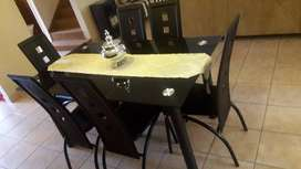 7Piece Dinning Room Table And Chairs Set