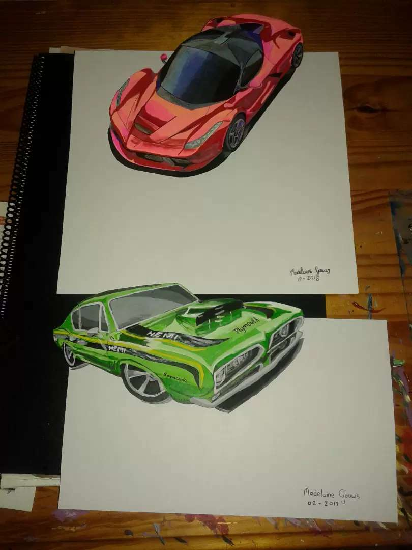 Colour drawing cars 0