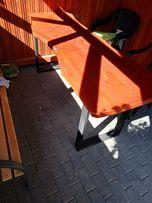 Stół dębowy Monolit na metalowych nogach