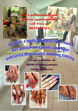 Tina's Nail and Beauty are providing the following services: