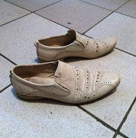 Білі чоловічі туфлі белые мужские туфли розмір 41-42