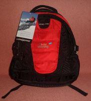 Plecak Longerre czarny z czerwonymi dodatkami