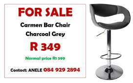 Carmen Bar Chair  Charcoal Grey
