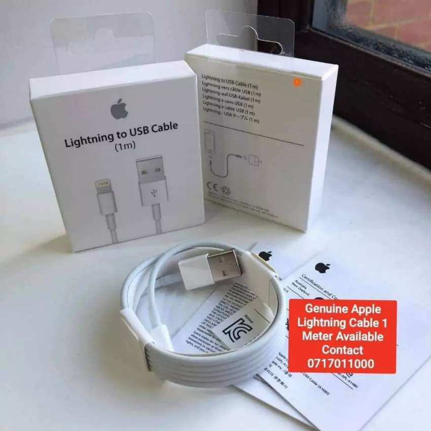 Genuine Apple Lightning Cable 1 Meter 0