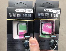 Защитное стекло 3D/5D для Apple Watch 38/40 и 42/44 mm series 1,2,3,4