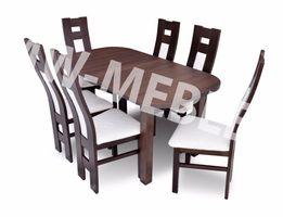 TANIO! Stół rozkładany + 6 krzeseł do salonu/jadalni W PROMOCJI!!
