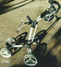 Image of foldable 4wheel golf trolley