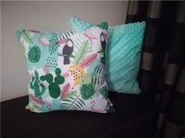 Poduszki dekoracyjne bawełna/minky dziecięce nowe