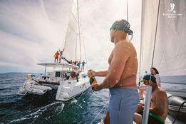 Отдых путешествие на парусных яхтах и катамаранах. Яхтинг. Обучение.