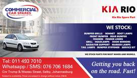 Kia Rio Parts and Spares For Sale.