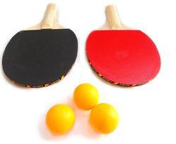 ZESTAW Do tenisa stołowego PING-PONG: 2 paletki + 3 piłeczki. NOWE