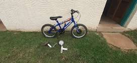"16"" Reiligh Boys bike with gaint training wheels"