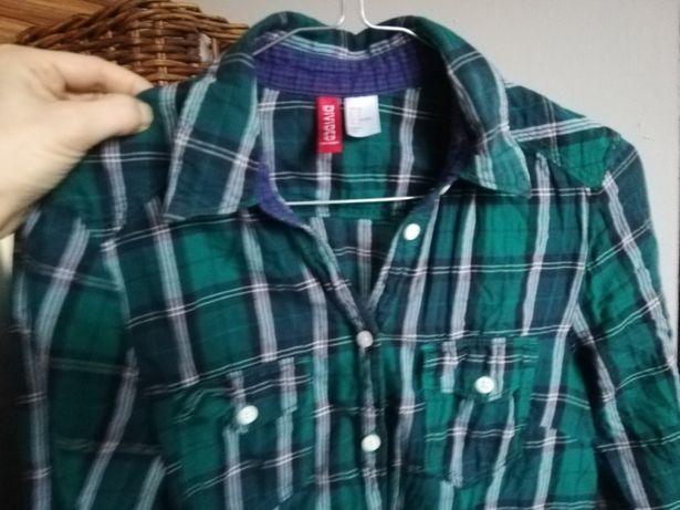Koszula w kratę H&M rozmiar 34 zielona Ruda Śląska - image 6