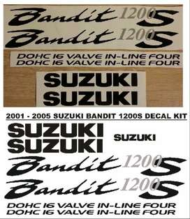 2001 Suzuki Bandit 1200S decals stickers graphics kit