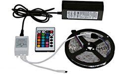 Светодиодная лента RGB 5050+адаптер+контролер+пульт,полный комплект 5м