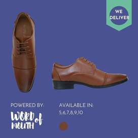 Smart brown leather shoes!