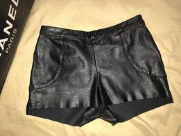Кожаные шорты H&M оригинал