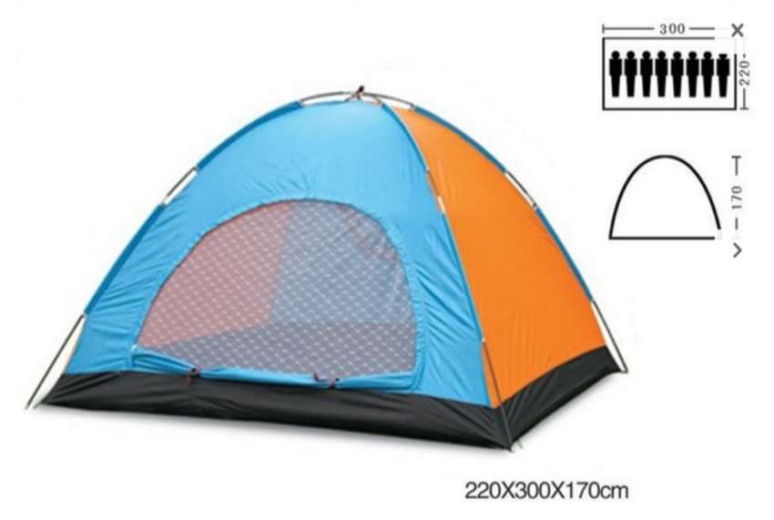 8 person Outdoor Hiking Camping Travel Tent (Easy to Set Up)