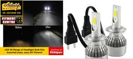 C6 LED bulbs for headlights, from R250 per pair assorted sizes H1, H3,