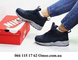 Женские зимние кроссовки Nike HUarache 3 цвет 6912 ТОП