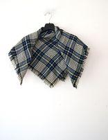 niebieska szara chusta arafatka szal niebieski szary w krate szkocka