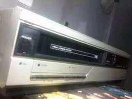 Mitubishi Video cassette player/recorder with clean and movie tapes