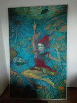 Obraz olejny Duży Rafał Herman 110x190 cm