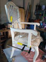 Перетяжка и ремонт стульев Перетяжка и ремонт диванов, кресел,кроватей