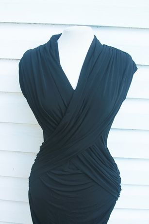 czarna elegancka dopasowana sexy sukienka french connection Sławno - image 3