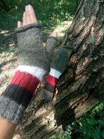 Перчатки длинные, варежки без пальцев, митенки